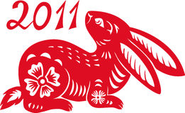Chinese Zodiac of Rabbit Year. Stock Photo