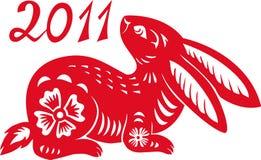 Chinese Zodiac of Rabbit Year. Stock Photo