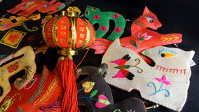 Chinese zodiac and red latern Stock Image