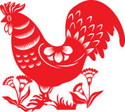 Chinese zodiac : rooster Royalty Free Stock Photo