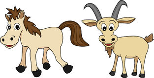 Chinese Zodiac Set 4 : Horse And Goat Royalty Free Stock Photo