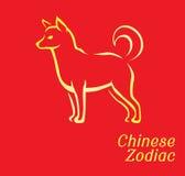 Chinese Zodiac Set Dog Vector Illustration Stock Photos