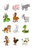 Chinese zodiac set Royalty Free Stock Photo