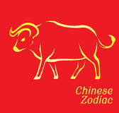 Chinese Zodiac Set Ox Vector Illustration Stock Image