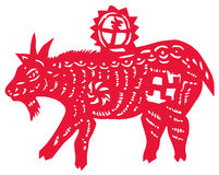 Chinese zodiac of sheep Stock Image