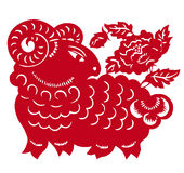 Chinese Zodiac of sheep year Stock Images