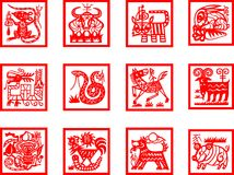 Chinese Zodiac Sign Royalty Free Stock Photos