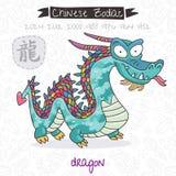 Chinese Zodiac. Sign Dragon. Vector illustration Stock Photos