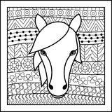 Chinese zodiac sign Horse Stock Photos