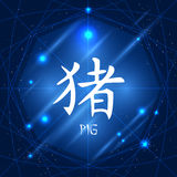 Chinese Zodiac Sign Pig Royalty Free Stock Images