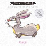 Chinese Zodiac. Sign Rabbit. Vector illustration Royalty Free Stock Photo