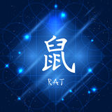 Chinese Zodiac Sign Rat Stock Photos