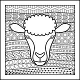 Chinese zodiac sign Sheep Stock Images