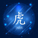 Chinese Zodiac Sign Tiger Royalty Free Stock Photos