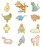 Chinese zodiac signs. Chinese Zodiac sign in hip style Stock Photo