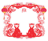 Chinese zodiac signs: monkey Stock Photography