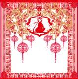 Chinese zodiac signs: monkey Royalty Free Stock Image