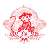 Chinese zodiac signs: monkey. Vector Illustration Royalty Free Stock Photos