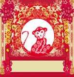 Chinese zodiac signs: monkey. Vector Illustration vector illustration