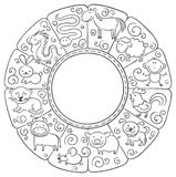 Chinese zodiac signs Royalty Free Stock Photography