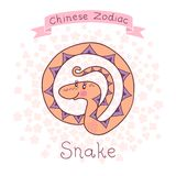 Chinese Zodiac - Snake. Vector illustration. In my portfolio there are other animals of the Chinese Zodiac series royalty free illustration