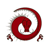 Chinese zodiac symbol red Dragon Royalty Free Stock Photography