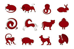 Chinese Zodiac Symbols Royalty Free Stock Photo