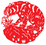 Chinese zodiac of tiger Stock Images