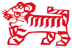 Chinese zodiac of tiger Stock Photo