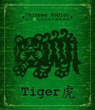 Vector Chinese Zodiac - tiger Stock Images