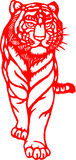 Chinese Zodiac of tiger year. Chinese traditional tiger paper cut, for chinese new year stock illustration