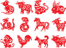 Chinese Zodiac Twelve Animals Stock Image