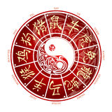 Chinese zodiac wheel Royalty Free Stock Images
