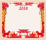 Chinese zodiac the year of Dog royalty free illustration