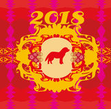 Chinese zodiac the year of Dog Royalty Free Stock Image