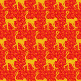 Chinese zodiac year of the monkey design. Royalty Free Stock Photos