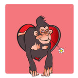 Chinese zodiac year of the monkey design . Translation - Monkey Stock Images
