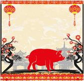 Chinese zodiac the year of Pig vector illustration