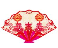 Chinese zodiac the year of Pig - range Royalty Free Stock Photography