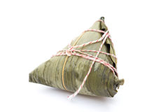Chinese ZongZi on white Royalty Free Stock Image