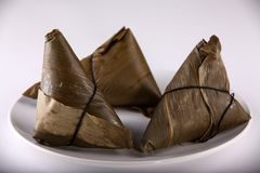 Chinese Zongzi or Zong. Stock Photos