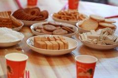 Chinesekuchen und -gebäck für Hochzeitstag Lizenzfreie Stockbilder