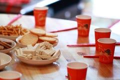 Chinesekuchen und -gebäck für Hochzeitstag Lizenzfreie Stockfotos