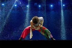 Chinesen tanzen allein   Lizenzfreies Stockfoto