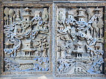 Chineses brick carving Royalty Free Stock Photos