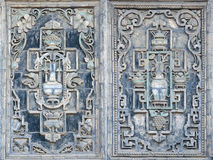 Chineses brick carving Royalty Free Stock Images