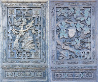 Chineses brick carving Royalty Free Stock Photography