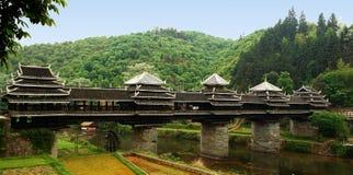 chineses da ponte do Asiático-estilo, Imagem de Stock