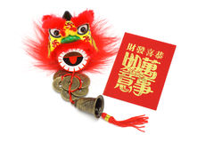 Chineses new year ornaments and red packet Royalty Free Stock Image