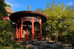 Chineses Pavilion in Beihai park. Beihai (North Sea) Park is one of the most popular parks in the city of Beijing Stock Photos